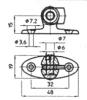 Подсоединение для газовых пружин серии 16-1 С6. Вильчатая клипса (черн) 062 10008. Фиксатор 062 10009
