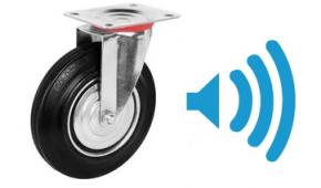 Как выбор колес влияет на уровень шума в промышленном помещении